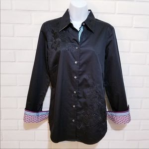Robert Graham Floral Embroidered Button Down